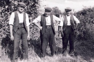L to R .Harry Jacklin, Mark Harrup and Walter Farnham in the 1940s   Angela Mead