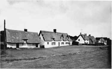 Seventeenth century cottages on the North side of the Green, Barrington - the village where the plaintiff and defendant 'became acquainted' | From 'An Inventory of the Historical Monuments of Cambridgeshire, Vol. 1 (London 1968); british-history.ac.uk
