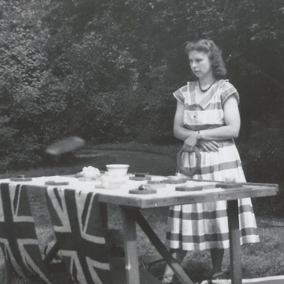 Mary Adcock, possibly on the occasion of the Queen's coronation in 1953 | Photograph supplied by Jane Moore (née) Findlay