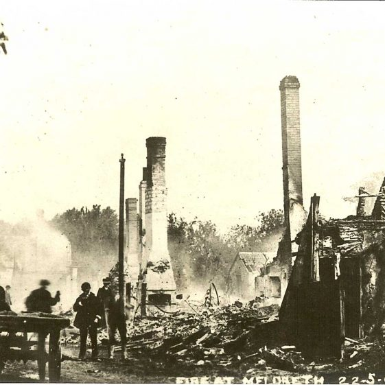 The aftermath of the fire | From a postcard supplied by Ann Handscombe