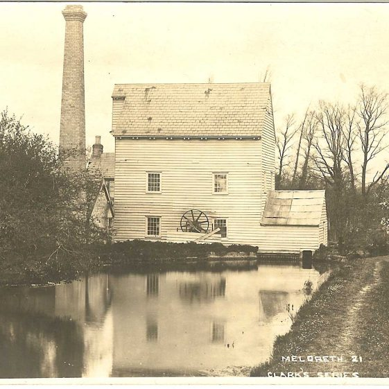 Flambards Mill, otherwise known as Quaker's Mill or Sheldrick's | Robert H Clark postcard supplied by Brian Clarke