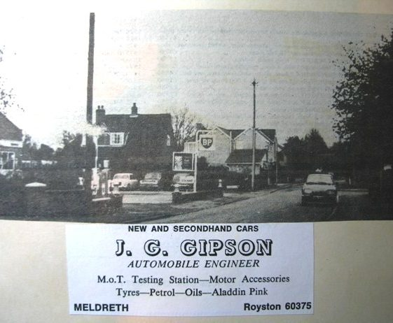 Advert for John Gipson's new garage now housing fronting Woolpack Way | Neldreth W.I