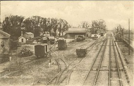 The yard at Meldreth Station from which the coal was stolen, shown here in 1930 | Photograph supplied by Tim Gane