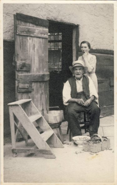 Charles Harrup and his daughter Gladys at Fieldgate House in the 1950's   Angela Mead