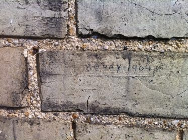Alfred Gray's signature on the wall of Allerton Terrace | Photograph by Joan Gane, 2014