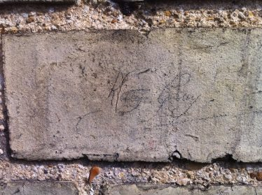 Signature on the wall of Allerton Terrace | Photograph by Joan Gane, 2014