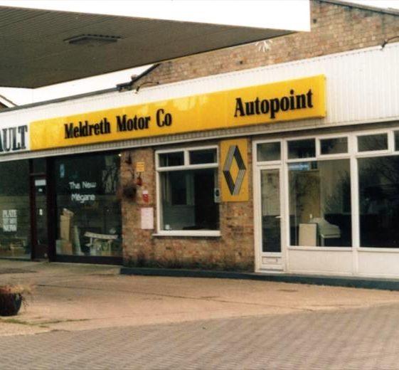 Renault garage, High Street, Meldreth prior to demolition for housing development.  December 1999 | Photo supplied by Ann Handscombe
