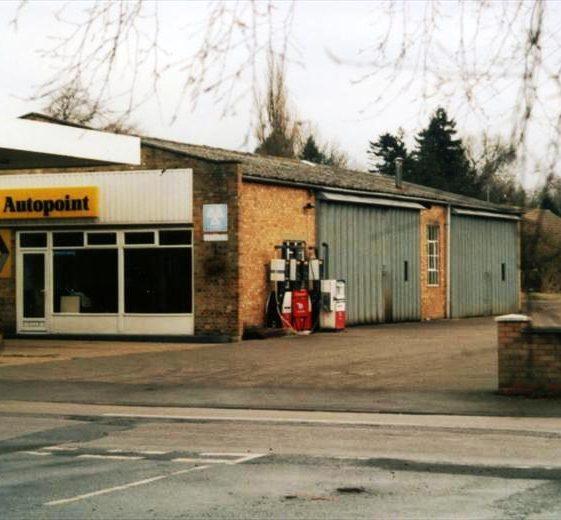Renault garage, High Street, Meldreth prior to being demolished for housing development.  December 1999 | Photo supplied by Ann Handscombe
