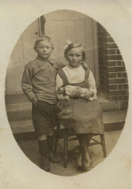 The only other photograph of school pupils that we know of from these years is the one shown above, of Norman and Muriel Gipson | Photograph courtesy of Christine Duguid