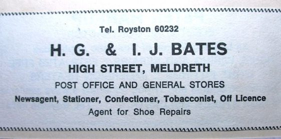 Advert for Post Office Stores. Post Office now in One Stop shop | Meldreth W.I.