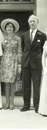 Mr and Mrs Harcourt at their daughter's wedding in the 1960's | Daphne Pepper