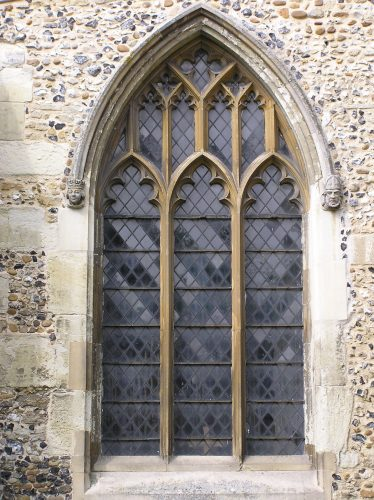 The east window of the south aisle was rebuilt in 1887 following the demolition of the Pike Chapel. It may be completely made up as the shape of the arch is typical of the 14thc but the style of the window tracery is later but does not match that of the other windows in the south aisle. | Peter Draper