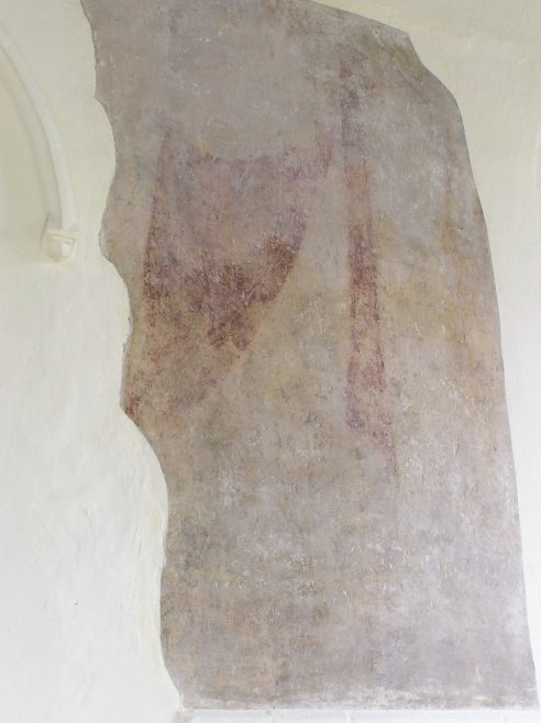 Chancel, 14thc wall painting of St Christopher | Peter Draper