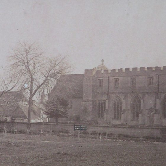 Photograph of the north side of the church dating between 1868 and 1875 | Photo in the church
