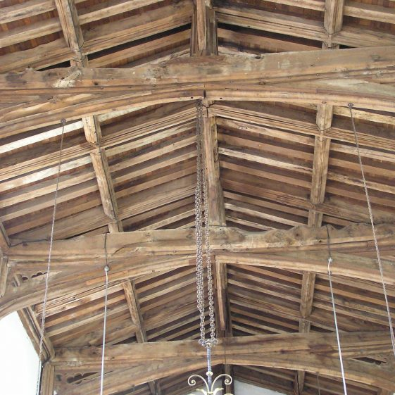 Nave, 15thc king-post roof | Peter Draper