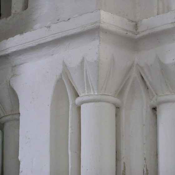 Nave, arch into tower, capitals | Peter Draper