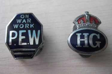 Home Guard badges which belonged to Gordon Handscombe | Photograph supplied by Ann Handscombe