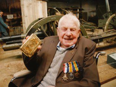 Bill Wing (Senior) on his 100th birthday in 1993 | Cambridge Newspapers Ltd