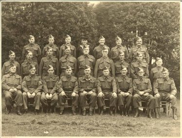 <b>Meldreth Home Guard - No19 Platoon 4th Battalion C Company Cambridgeshire Regiment</b><br> Back row, from left: ?, Don Bradley, Cecil Adams, Tom Thurley, Leslie Turner, Peter Jacklin<br> Middle row, from left: Ernie Dash, Edward Dash, Dennis Pepper, Leonard Pevley, Ernest Richard Wethersett, C W Dunn, ? Plumb, Eric Andrews, George Harrup<br> Front row, from left: Fred Russel, Leslie Pepper, Eddie Andrews, Hubert Hales, John Paterson, George Palmer, Lewis Harrup, Eric Elbourn, Sid Chamberlain | Photograph supplied by Dennis Pepper