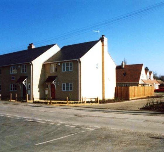 New housing development on Renault garage site, High Street, Meldreth.  2003 | Photo supplied by Ann Handscombe