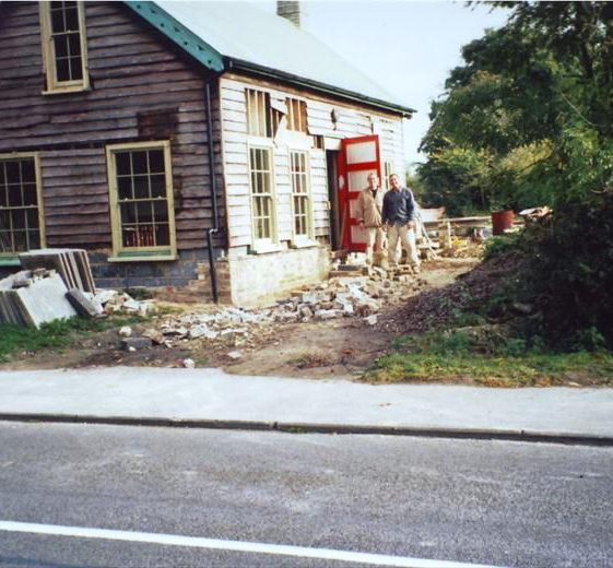 Former Conservative Association hut, High Street, Meldreth undergoing redevelopment as a private dwelling. 2000 | Photo supplied by Ann Handscombe
