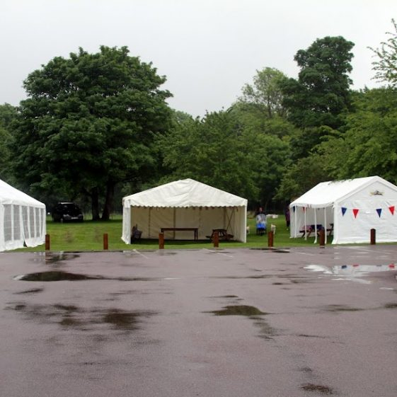 Marquees at the British Queen | Photograph by Malcolm Woods