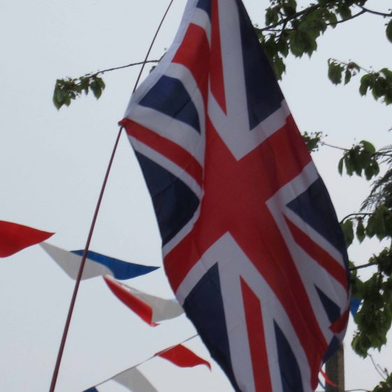 Union Jack and bunting | Photograph by Andrew Betts