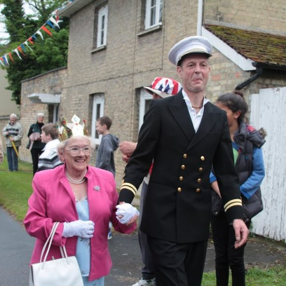 Her Majesty The Queen and Prince Phillip arrive (aka Pat Tobin and Ian Course) | Photograph by Malcolm Woods