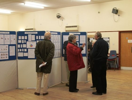 Visitors viewing exhibits   Photo by Malcolm Woods