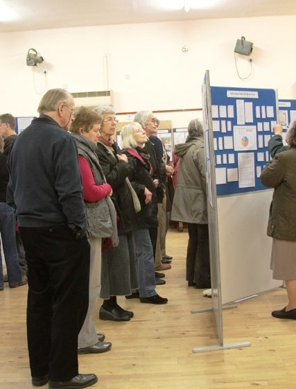 Visitors viewing exhibits | Photo by Malcolm Woods