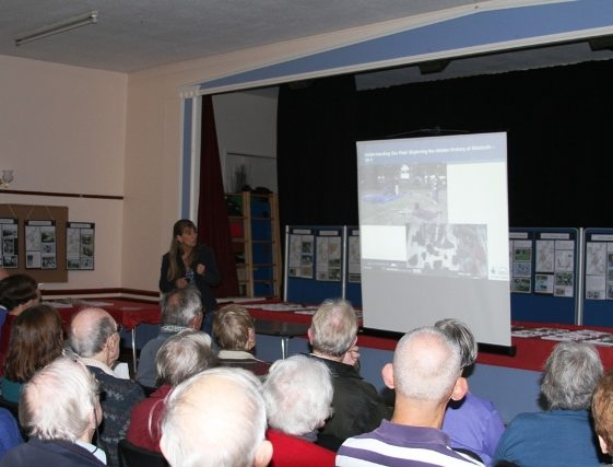Talk by Carenza Lewis   Photo by Malcolm Woods