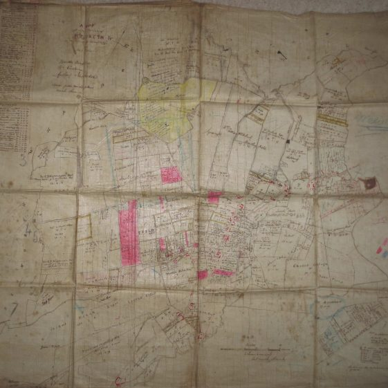 An annotated copy of the 1820 Inclosure Map | held by Meldreth Local History Group