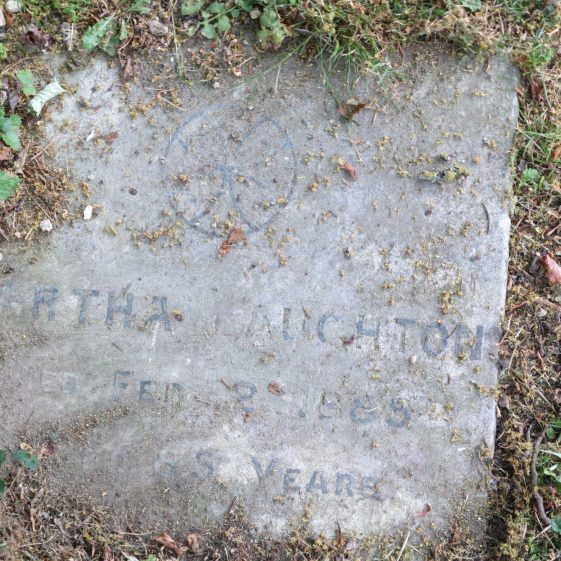MARTHA LAUGHTON/ died Feb 2 1885/ aged 85 years | Photograph by Kathryn Betts