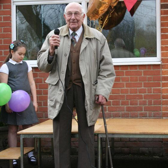 Keith Jacklin speaking at the school's centenary celebrations | Photograph by Malcolm Woods