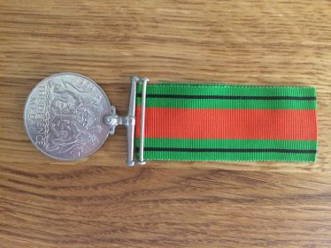 The Defence Medal awarded to Corporal Leslie Pepper for his service in the Home Guard | Brian Pepper