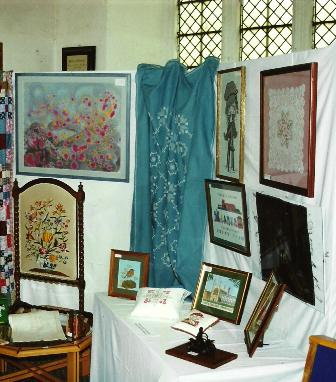 Exhibition of work at Church Fete by Mrs Jude's students | Anne Handscombe