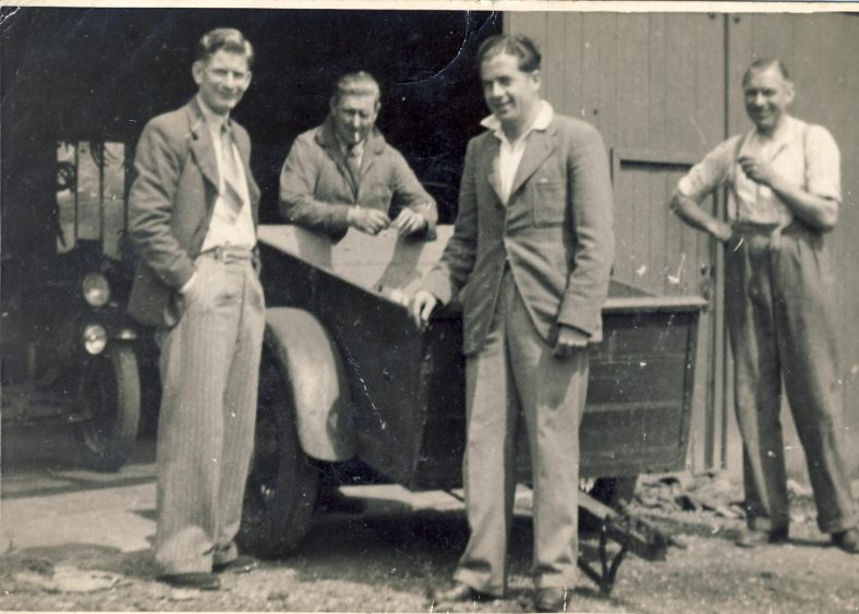 Also in the 1940s<br> L to R Bill Hunt, _______ , Les Catley, Arch Hale. What is the connection between these four gentlemen? | Dolly Catley