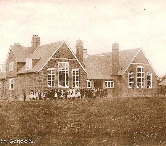 Meldreth School, High Street, Meldreth. Photo was possibly taken to mark opening of school in 1910. | Kathryn Betts