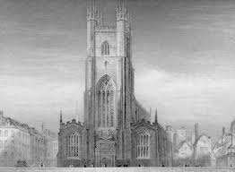 Great St Marys Church, Cambridge, 1841, drawn by I A Bell, steel engraving by J Le Keuk. The Assize Sermon was preached here before the Court began sitting. | www.victorianweb.org