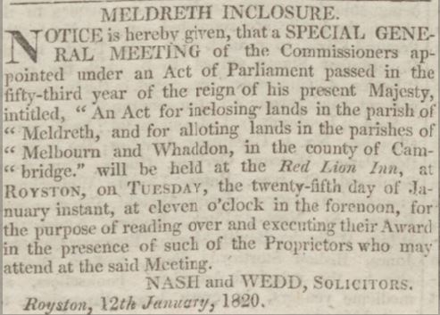 14th January 1820 | Cambridge Chronicle