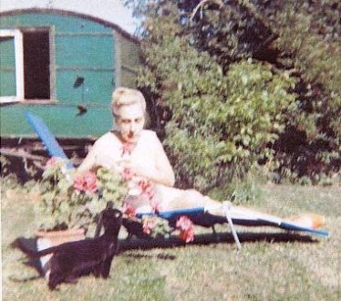 Jo Rathbone in her garden at Hawkesbury Court, North End, Meldreth.   Photo supplied by Hilary Jeffreys