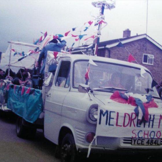 Meldreth Manor School float for Queen's Jubilee celebrations | Meldreth WI scrapbook