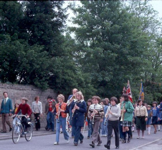 The parade along the High Street | Meldreth WI scrapbook