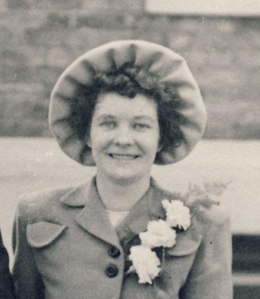 Kath Huggins on her wedding day in 1949 | Courtesy of Kath Huggins