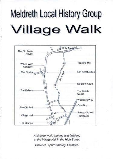 Circular Walk of Meldreth Booklet priced at £1 | Tim Gane