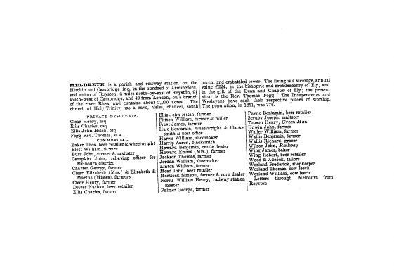 Kelly's Directory, 1858