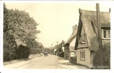 Keys Cottage, High Street - postmarked 1952 | Postcard supplied by Brian Clarke