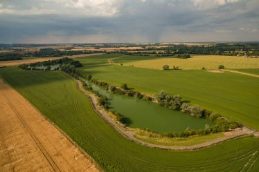The flooded lime pits, now privately-owned as fishing lakes, as they look today   nashlakes.com