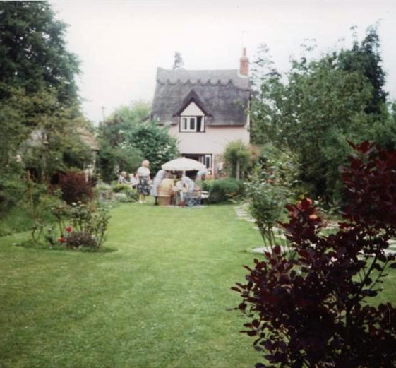 Garden at Keys Cottage, High Street, Meldreth during an Open Day.  1990 | Photo supplied by Ann Handscombe