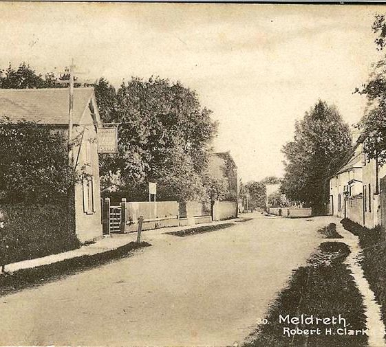 High Street, Meldreth showing British Queen P.H. on l/h side. c.1915 | Photo supplied by Brian Clarke